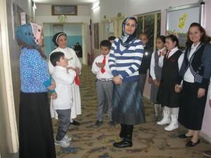 Moslimleraressen en christelijke leerlingen